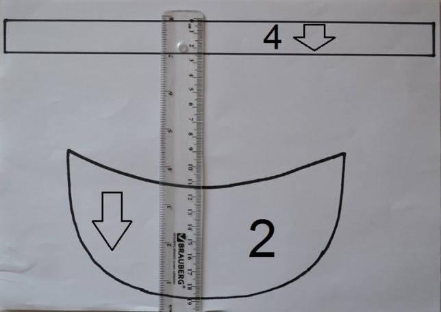 Выкройка козырька кепки восьмиклинки