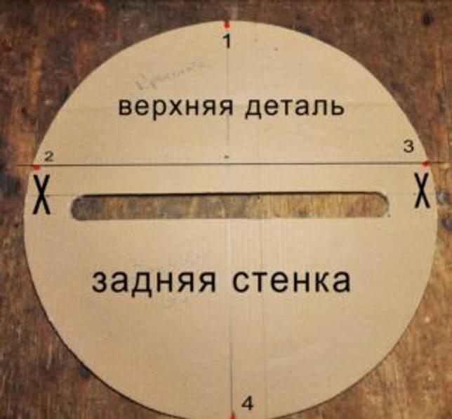 рисуется круг диаметром 14 см